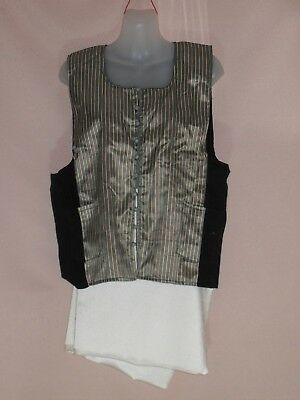 1980's Vintage Vest with Feature Striped Front.
