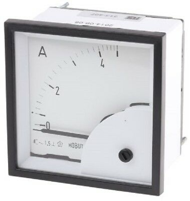 HOBUT D72SD Analogue Panel Ammeter 0/5A Direct Connected AC RS 313-407 D72SD5A/2