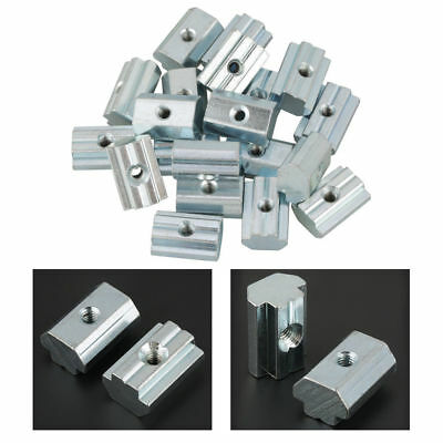 20X Hammer Head T-Nut Drop In M4/M5/M6/M8 For Type-40 Aluminum Profile Extrusion
