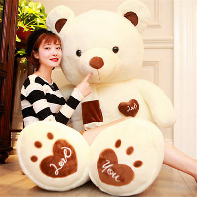 2018 Big Teddy Bears Plush Soft Toys Giant Doll Stuffed Cushion Animal Birthday