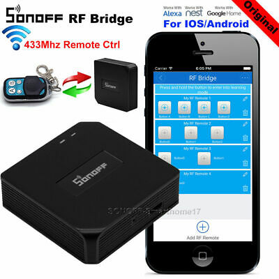 SONOFF RF Bridge ITEAD Smart Home Automation Interruptor Inalámbrico Wifi U3O4