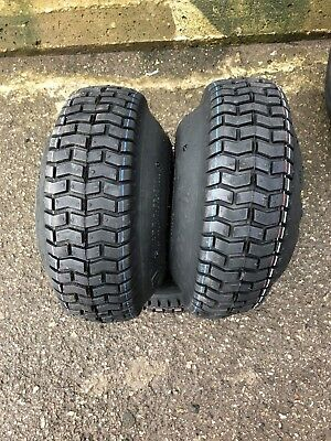 2 x 11x4.00-4 Ride on Mower Turf Tyres 4PR TL Deli S-365 - TWO TYRES