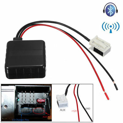 Bluetooth Radio Stereo AUX In Adapter Receiver+Filter For BMW E60 E61 E62