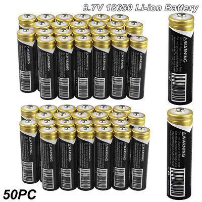 100x Ultrafire 18650 3.7V 3000mAh Li-ion Rechargeable Battery Cell For Torch LOT