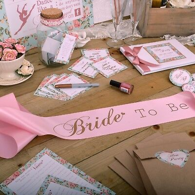 Rose Gold Hen Party Accessories Floral Vintage Style | VINTAGE SUMMER HEN NIGHT