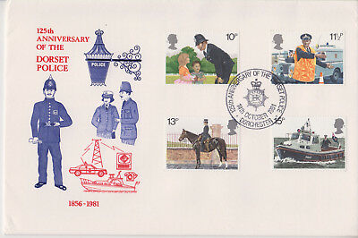 Special Event Cover 125Th Anniversary Dorset Police 1983 First Day Issue