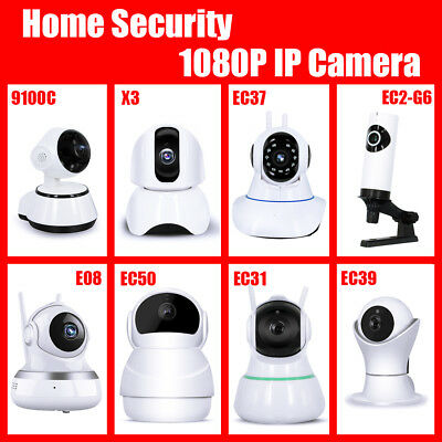 1080P Wireless Wifi IP Camera IR Security Webcam Baby Pet Monitor CAM Pan Tilt
