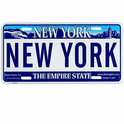 new york license plate, novelty ny state car license plate