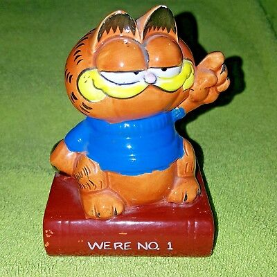 Vintage garfield enesco ceramic figurine were no