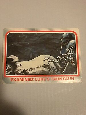 1980 VINTAGE SCANLENS - Star Wars Empire Strikes Back Trading Card Number 21