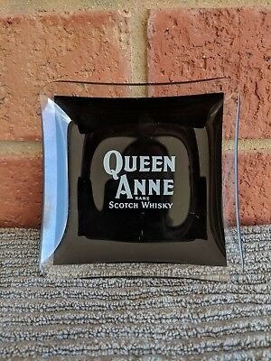 Vintage Queen Anne  Scotch Whisky Glass Ashtray (hard to find)