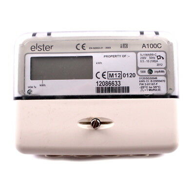 Elster A100C Electric Single Phase Meter, Pulsed Output Solar PV Wind Generation