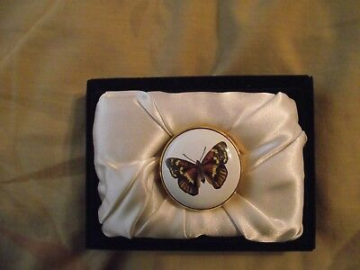 Halcyon Days Enamels Butterfly Pill Box Collectors Society 2003
