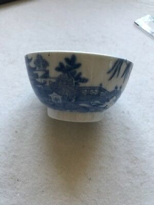 Antique Chinese BLUE AND WHITE PORCELAIN tea bowl Qing dynasty