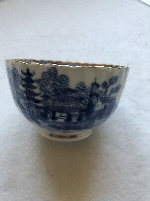 Antique Chinese BLUE AND WHITE PORCELAIN bowl Qing dynasty