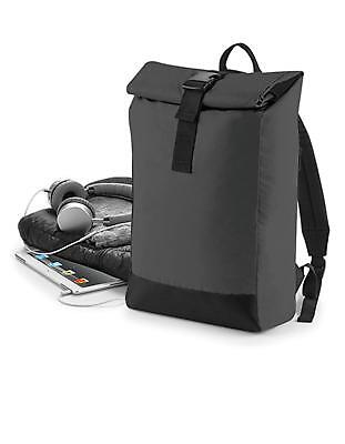Reflective Roll-Top Backpack 26 x 43 x 13 cm | BagBase