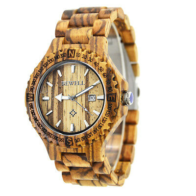 Men Women Wood Watches Analog Quartz Lightweight Handmade Wood Wrist Watch B