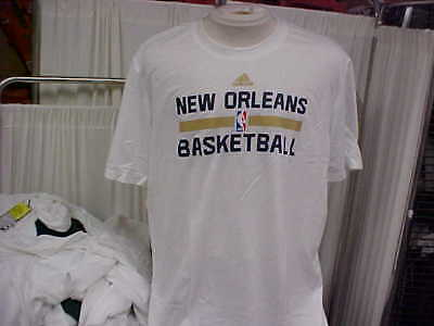 dc50d9d768cd New Orleans Pelicans AeroKnit Team Issued Adidas S S White Training Shirt  Sz 2XL