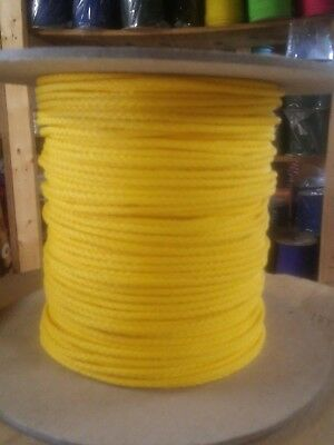 """1/8"""" x 1000 ft.(2 lengths) Polyethylene Rope Spool. Yellow. Made in USA"""