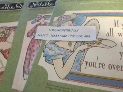 Daisy Kingdom Notable Quotable Iron-On Transfer 8.5x11.5 Inches Your Choice