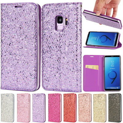 Leather Magnetic Flip Stand Card Wallet Case Cover For Samsung Galaxy S9 S8 Plus