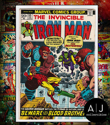 The Invincible Iron Man #55 (Marvel) VG! HIGH RES SCAN