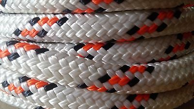 """1/2"""" x 90 ft. Double Braid~Yacht Braid polyester Rope. Valsail Line.US Made"""