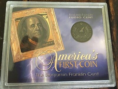 Amereican First Coin The Benjamin Franklin Fugio Cent