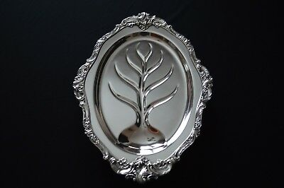 """Wallace Baroque Silver Plate 17"""" Serving  Meat Tray"""