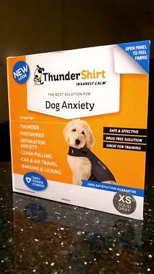 ThunderShirt Jacket Dog Anxiety XS Solid Heather Gray Dogs  HGXS-T01 Extra Small