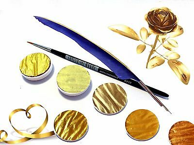 Artist Gold Pearlescent Color, Water Can Be Painted, for Calligraphy &