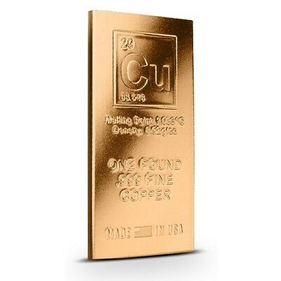 1 Pound Copper Bar - Elemenal