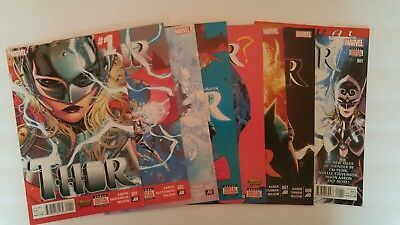 Thor (2014) 1- 4,6- 8 - 1st issue of Jane Foster as the New Thor  Revealed in #8
