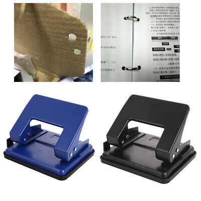 Loose-Leaf Hole Puncher Paper Puncher Portable 2 Holes 8 Sheet Office