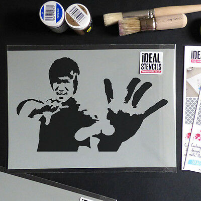 Bruce Lee Stencil painting craft art stencils iconic portraits ideal stencils
