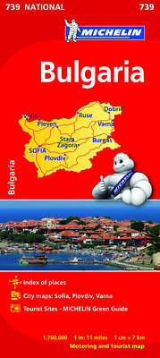 Bulgaria Map - Michelin 739 - New - Current Edition