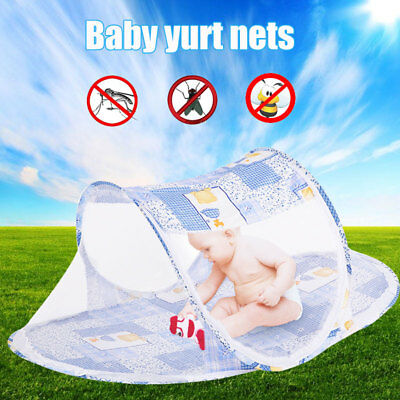 Infant Mosquito Net Baby Mosquito Net Foldable 2 Colors Cotton-Padded Mattress