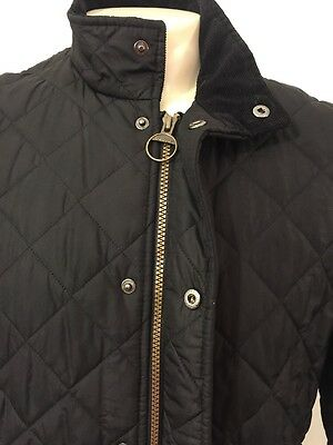 Barbour Coat Jacket Black Chelsea Sportsquilt Quilted Jacket Coat Size S NWOT!