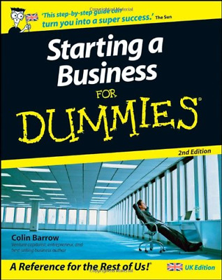 Starting a Business For Dummies®, 2nd Edition, Barrow, Colin, Good Condition Boo