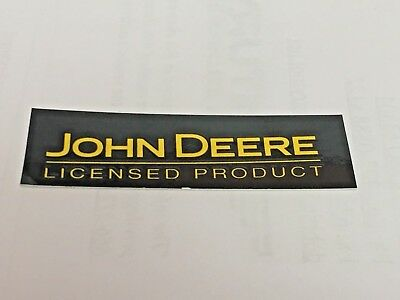 "JOHN DEERE, H: 5/8"" x W: 2"", Yellow & Black, Licensed Product"