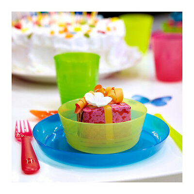 Toddler Kids Plastic Plate Bowl Cup Cutlery Tableware Party Picnic Ikea KALAS