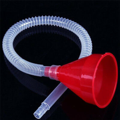 Vehicle Filling Plastic Funnel Soft Pipe Pour Oil Petrol Diesel KeroseneGT
