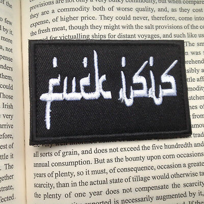 F**k Isis Usa Army Morale Milspec Tactical Military Badge Patch
