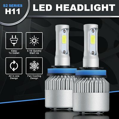 Brand New H11 LED Headlight 6500K White 8000LM Kit Low Beam Bulb High Power