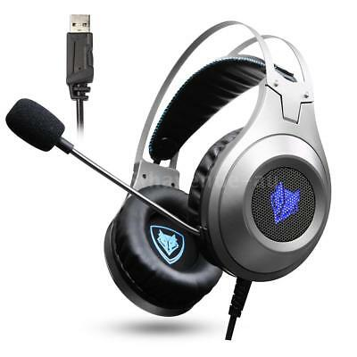 NUBWO N2 USB Wired Gaming Headset Over-Ear Stereo PC Headphones Deep Bass C4A5