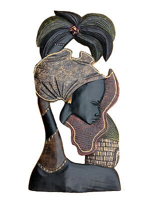 Decorative Hand Carved wooden Africa African wall hanging Sculpture Artwork
