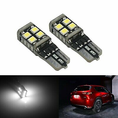 2 Ampoules Veilleuses LED T10 W5W 11 SMD Canbus Anti Erreur Blanc Moto Voiture