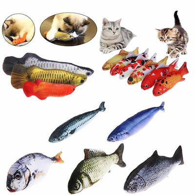 3D Funny Cat Pet Kitten Salted Fish Stuffed Mint Interactive Chewing Pillow Toy