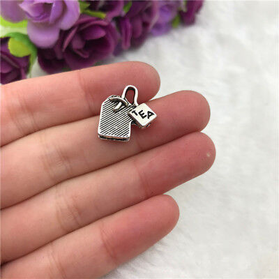 5pcs Teabag Charm Tibetan Silver Beads Finding Jewellery Making 15x15mm