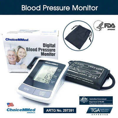 ChoiceMMed Digital Blood Pressure Monitor Automatic Upper Arm Type TGA Approved